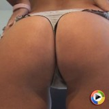 Hailey teases with her tight round ass in a tiny thong